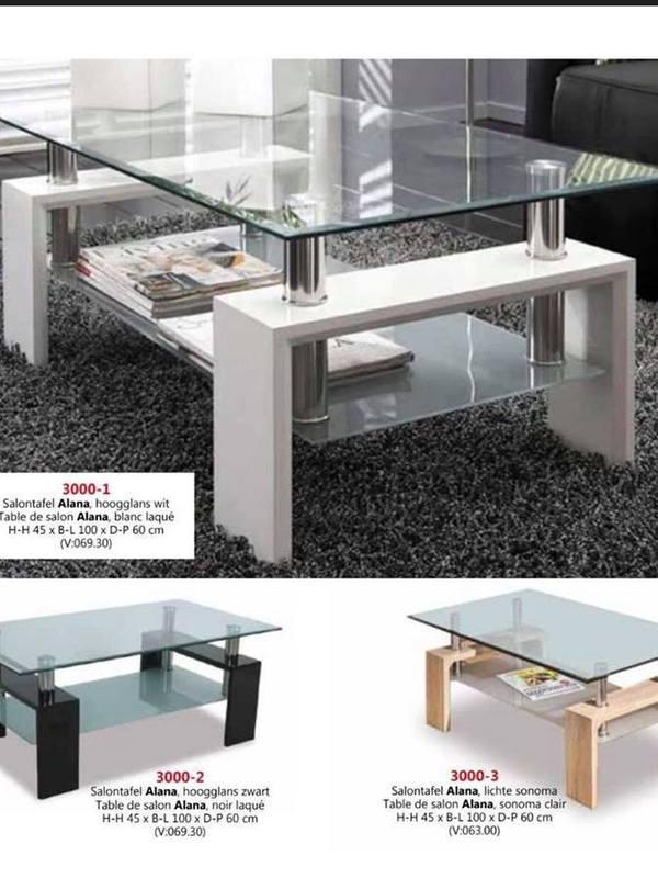 Table de salon alana en verre